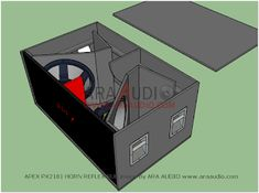 skema box sub reflek apex 18 inch horeg mantap. Subwoofer Box Design, Speaker Box Design, Woofer Speaker, Monitor Speakers, Loudspeaker Enclosure, Speaker Plans, Passive Radiator, Transmission Line, Planer