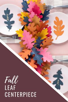 is the official learning hub for all things Silhouette. Changing Leaves, Leaf Design, Autumn Leaves, Silhouette Cameo, Card Stock, Hot Pink, Special Occasion, Place Cards, Centerpieces