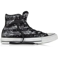 outlet store 18944 34b64 Converse Limited Edition Shoes All Star Hi Sequins Black and Silver...  (1.902