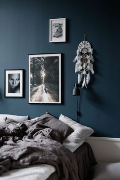 Dark Rich Blue Wall Paint