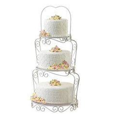 Graceful Tiers Cake Stand, cake stand hire, wilton cake stands for hire