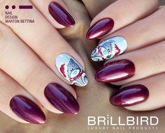 Tatty teddy Christmas Nails.  Manichiură dulce, realizată cu produse de unghii false BrillBird.  www.brillbird.ro