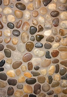 details about mixed natural river rock pebble tile / kitchen