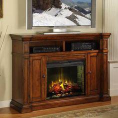 Fireplace Console, Faux Fireplace, Fireplace Inserts, Fireplace Ideas, Media Fireplace, Mantel Ideas, Decor Ideas, Electric Fireplace Media Center, Electric Fireplace Tv Stand