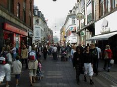 Stroget in Copenhagen, the oldest pedestrian street in the world - a great shopping area.