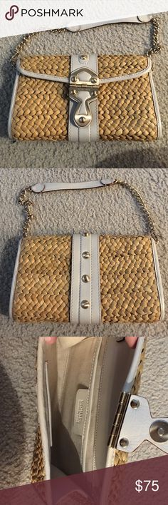 Michael Kors Rattan Purse Adorable white lined rattan purse perfect for vacation or summer time! Michael Kors Bags Shoulder Bags