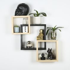 Made from pine wood, these display shelves make the perfect addition to any wall space. Create a standout wall feature by placing décor objects in them. Online Furniture, Furniture Decor, Modern Furniture, Display Shelves, Wall Shelves, Shelf, Dream Bedroom, Master Bedroom, Wall Spaces