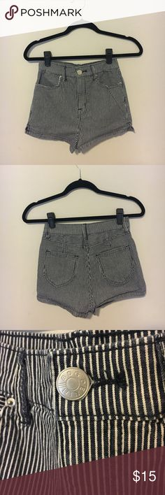 BDG striped high rise shorts BDG urban outfitters high rise striped shorts Gently used BDG Shorts