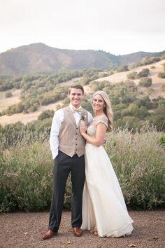Bride & Groom -- on SMP: http://www.StyleMePretty.com/california-weddings/2014/03/06/romantic-sonoma-valley-wedding/ Photography: Jessamyn Harris