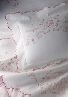 Bedding Sets Online, King Bedding Sets, Luxury Bedding Sets, Luxury Sheets, Contemporary Bed Linen, Modern Contemporary, Embroidery Designs, Vintage Embroidery, Embroidery Thread