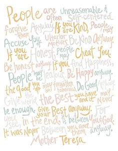 Unraveled Illustration: Mother Teresa Quote (by unraveleddesign)