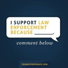 Facebook post for Senator Pat Toomey of Pennsylvania asking his Facebook fans to join in on the conversation about why they support law enforcement. Find out how Harris Media can help your campaign target your message across digital platforms:www.harrismediallc.com