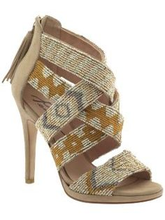 drawn to the patterns and beading! #shoes