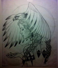 eagle girl flash... id do this but in a less native american way