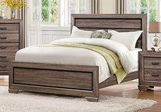 Homelegance Beechnut Contemporary Rustic Bed, California King, Light Elm/Black