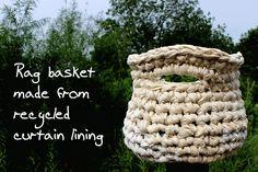 Little Bird SOS: Crafty rags :: giant crochet basket tutorial