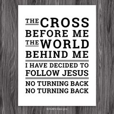 Hymn. I Have Decided to Follow Jesus. 8x10 DIY by AmenPrintables, $6.50