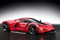 Ferrari LaFerrarina rendering front three quarter