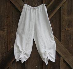 linen bloomer knicker britches girlie pantaloon boho gypsy in
