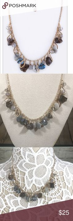 """Multi stone necklace set Multi stone gold plated necklace approx 17"""" in Length Jewelry Necklaces"""