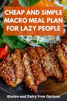 Stupid easy macro meal plan - so cheap you can do it on a college budget. No weird ingredients, no need to spend $$$ on extra ingredients. Just simple, clean, and macro friendly. Recipes included totally free. Gluten free meal plan. Gluten free macro meal plan. Dairy free meal plan. Dairy free macro meal plan. #macromealplan #mealplan #mealplanforbeginners #easymealplans Healthy Recipes On A Budget, Budget Meals, Clean Eating Recipes, Healthy Eating, Free Recipes, Easy Recipes, Keto Recipes, Healthy Food, Paleo Meal Prep