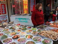 """Fangbang Lu is one of Shanghai's top street food areas, with vendors offering everything from stir-fry and noodles to """"stinky"""" tofu and candied fruit. Shanghai Food, Chinese Market, Candied Fruit, Stir Fry, Street Food, Tofu, Great Recipes, Fries, Yummy Food"""