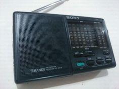 Radio Sony icfMulibandas Portátil made in Japón 9 Bandas
