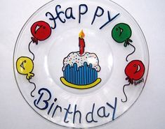 Happy Birthday Plate by BonnysBoutique on Etsy, $15.00