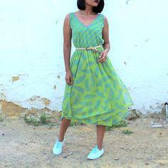Vestido veraniego Combinado de ClaraogVintage en Etsy