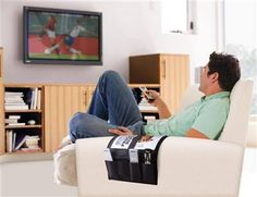 Stop losing the remote in the couch cushions. The Atlantic Furniture Caddy holds remotes, magazines, and more!