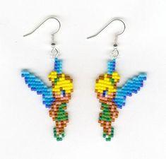 Tinkerbell Fairy Beaded Earrings