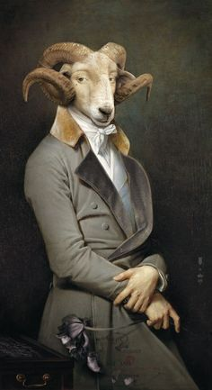 Animals as an endless source of creative inspiration. An exploration of the finest in art, illustration, crafts and design from around the world featuring animals, both real and fantastic. Animal Heads, Animal Masks, Glass Animals, Classic Books, Surreal Art, Pet Clothes, Pet Portraits, Illustrations, Sheep