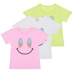 >> Click to Buy << Cute Ice Cream Color Cotton Baby Tees Smile Face Children Boys Girls Kids Short Sleeve T-shirt Cozy 2-7 Y High Quality #Affiliate