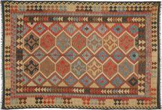 Kelim Afghan Old style tapijt ABCO1962 202x293 van Afghanistan - CarpetVista