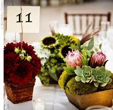 centerpiece with proteas