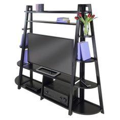 Winsome Adam 3-piece TV Stand & Corner Shelves Set $347.99