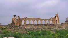 Volubilis - Vue arrière de la basilique et du Capitole