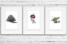 Star Wars Personalized Art Baby Yoda Star Wars by FramedDesign