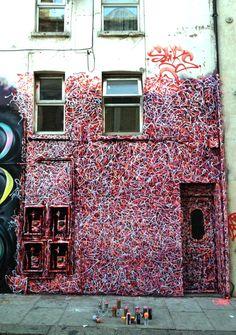 Artist : Sliks. Place : London, UK. Tags : street Art, graffiti, urban culture.