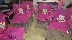 Alpha Kappa Alpha Custom picnic chairs www.sororitique.com