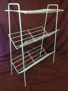 Rut Ro!  Restored Vintage Metal Wire Paperback Bookshelf Painted Turquoise by byRQ on Etsy