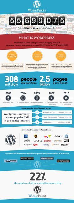 Statistics of WordPress #wordpress #SEO #Infographics