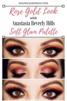 Rose Gold Look w/ ABH Soft Glam Palette