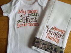 Hunting Baby Boy Set Daddy's Hunting Buddy Baby by babytweets, $18.00