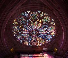 Rose window, Washington National Cathedral.