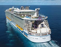 Harmony Of The Seas is the biggest ever cruise ship with capacity for 6,000 passengers...