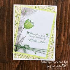 I am still not done playing with my Tranquil Tulips stamp set! This time I matched it up with a piece of beautiful DSP from the Painted Autumn DSP! The Painted Autumn DSP is part of the Painted Aut…
