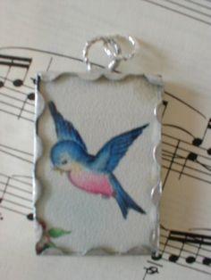 ❤️Blue Bird Pendant❤️️️From my friend Funny Face Bird Tattoo Ribs, Swallow Bird Tattoos, Tattoo Wings, Lace Tattoo, Tattoo Black, Wrist Tattoo, Images Vintage, Vintage Birds, Bird Shoulder Tattoos