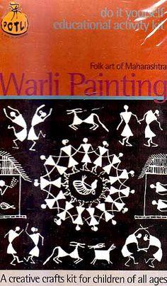 Warli Painting Folk Art of Maharashtra (Do it Yourself Educational Activity kit) Worli Painting, Fabric Painting, Acrylic Paintings, Indian Folk Art, Indian Art Paintings, Madhubani Painting, Vash, Educational Activities, Tribal Art