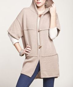 Take a look at this Camel Baby Alpaca Car Coat by Peruvian Atelier on #zulily today! $100 !!
